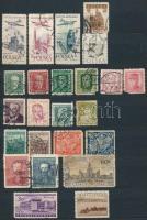 Motívum sorok, bélyegek a világ minden tájáról 10 lapos közepes berakóban + Vegyes külföldi forgalmi bélyegek néhány levelezőlappal 8 lapos közepes berakóban