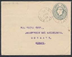 1928 Díjjegyes levél Németországba / PS-cover to Germany