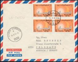Airmail cover Légi levél