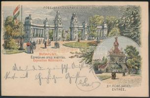 1896 32 db klf millenniumi díjjegyes képes levelezőlap, benne 25 db 2kr és 7 db 5kr A4-ös dossziéban