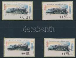Automatic 4 stamps with 4 diff. face value, Automata 4 db bélyeg 4 klf névértékkel
