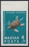 1969 Földtani intézet ívszéli 4Ft fekete színnyomat nélkül (40.000) / Mi 2526 margin piece, black colour print omitted (ujjlenyomat / fingerprint)