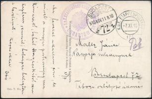"Austria-Hungary field postcard, Képeslap / Postcard ""K. u. K. ETAPPENPOST - U. TELEGRAPHENAMT LUBARTON"" + ""EP 175"""