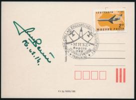 Farkas Bertalan magyar űrhajós aláírása emlék levelezőlapon