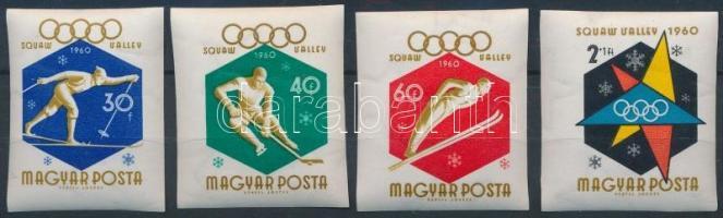 1960 Téli Olimpia (I.) 4 db klf vágott érték