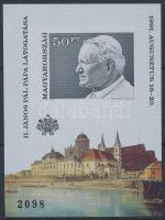 1991 II. János Pál pápa vágott blokk (4.000)