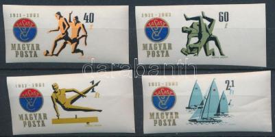 1961 Vasas sportklub ívszéli vágott sor (5.000)
