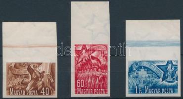 1951 Május 1. (II.) ívszéli vágott sor (9.000)