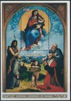 Karácsony: Raffaello festmény blokk Christmas: Raphael's painting block
