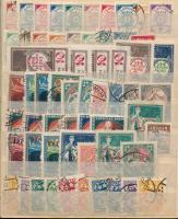Lettország 1919-1940 156 db klf bélyeg, közte több magas értékű is 3 oldal közepes berakólapon
