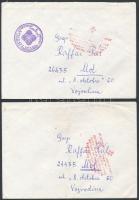 Bosznia 1992-1993 3 db polgári levél a délszláv háborúból, jótékonysági szervezetek bélyegzéseivel, postán kézbesítve