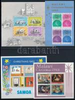 1964-1995 Karácsony motívum 7 klf blokk + 1 db önálló érték 4 db stecklapon