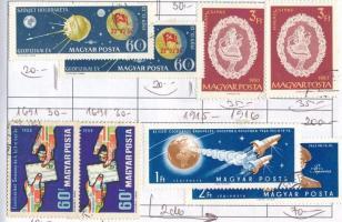 628 db magyar bélyeg 6 db cserefüzetben