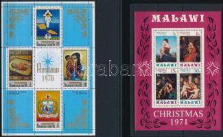 1970-1995 Karácsony motívum 6 klf blokk + 1 db önálló érték 4 db stecklapon