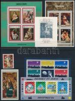 1969-1995 Karácsony motívum 6 klf blokk + 1 db önálló érték 2 db stecklapon
