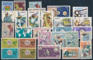 ITU, Nemzetközi Távközlési Egyesület (Afrika) 28 klf bélyeg + 2 blokk, 2 stecklapon