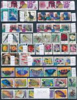 345 db klf állat és növény motívum bélyeg, benne sorok és önálló értékek 3 db A4-es berakólapon