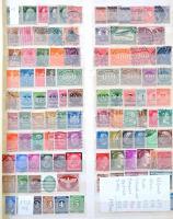 Nyugat-Európa 1881-2007 1.728 db klf bélyeg (ónémet, Deutsches Reich, NSZK, NDK, brit, skandináv, Benelux, osztrák, svájc) 9 lapos nagyalakú berakóban