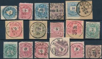 17 db Krajcáros bélyeg szép bélyegzésekkel