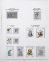 Magyar előnyomott album 1990-2001 néhány bélyeggel és blokkal