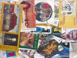 Románia 2004-2016 180 db bélyeg tasakban ömlesztve