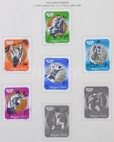 Magyar előnyomott album 1973-1981 néhány bélyeggel és blokkal