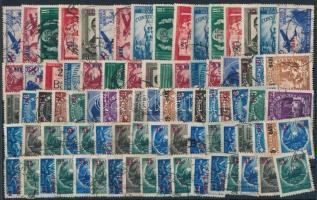 Románia 1952 84 db bélyeg felülnyomással