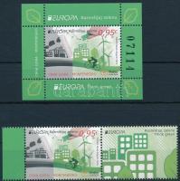 Europa CEPT, Environmental Awareness margin stamp with coupon + block Europa CEPT, Környezettudatosság ívszéli szelvényes bélyeg + blokk