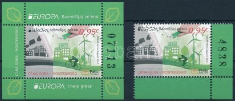 Europa CEPT, Environmental Awareness corner stamp + block Europa CEPT, Környezettudatosság ívsarki bélyeg + blokk