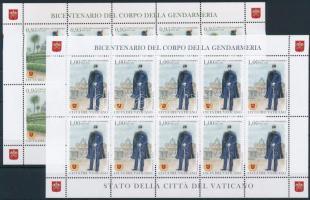 200 éves a csendőrség kisív sor 200th anniversary of Gendarmerie mini sheet set