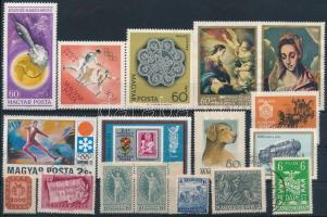 16 db bélyeg tévnyomattal (festékfolt, vonal, rákelcsík)
