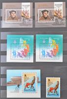 232 db bélyeg és blokkok színeltérésekkel 8 lapos A4-es berakólapon
