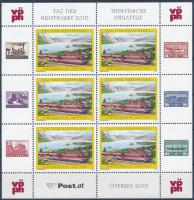 Mozdony; Bélyegnap kisív Locomotive; Stamp Day mini sheet