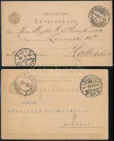 1897-1903 2 db díjjegyes levelezőlap külföldre küldve