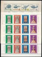 1962, 1964, 1967, 1975 Bélyegnap 4 klf kisív (12.500)