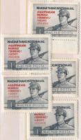 1954 5 db Tanácsköztársaság sor (10.500)
