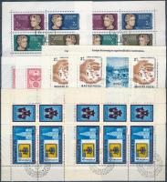 1964-1988 38 db magyar kisív + 1957 5 db Bélyegnap 3-as csík, 2 db berakólapon