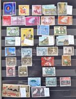 Japán tétel 1910-1990 több száz bélyeg 10 lapos A4-es berakóban