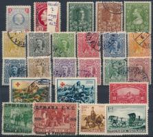 Montenegró, Jugoszlávia, Szerbia 1895-1946 53 db bélyeg (megszállás, vöröskereszt, elfogazás)