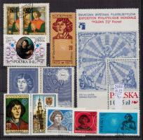 Kopernikusz motívum 9 db bélyeg, 1 blokk, 4 CM, 3 FDC és 3 futott levél
