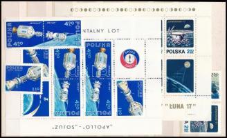 Lengyelország 1971-1975 Űrhajózás motívum 2 sor és 2 blokk