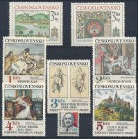 Csehszlovákia 1977-1983 2 sor, 1 önálló érték + ugyanezek 7 FDC-n