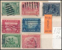 USA kis tétel, benne 7 db klf bélyeg (Mi EUR ~53,-)
