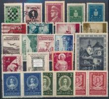 Horvátország 1941-1995 23 db bélyeg (Portó, kisebb fogazás, Hungarica)