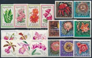 1966-1984 Virág motívum 5 klf sor + 1 db blokk