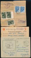 23 db II. világháborús és hadifogoly levelezőlap, közte 2 db csomagszállító szelvény