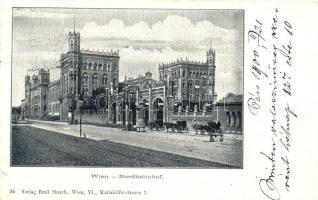 Vienna, Wien II. Nordbahnhof, Verlag Emil Storch / railway station