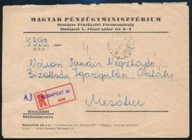 1957-1961 3 db Ajánlott levél, mindegyiken a ragjegyre bélyegzett helység névvel