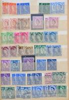 Nagy-Britannia ~220 db Erzsébet fejes bélyeg 8 lapos A5-ös berakóban
