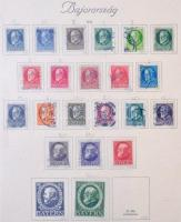 Bajorország ~60 klf bélyeg 1914-1919 3 db Turul albumlapon (Mi EUR ~320)